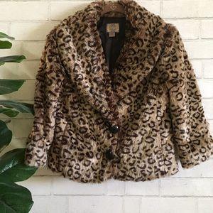 🆕🍃{Forever 21}: Leopard Faux Fur Jacket🍃